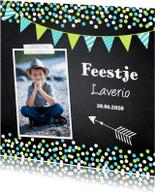 Kinderfeestjes - Kinderfeestje jongen confetti krijtbord - LB