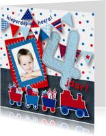 Kinderfeestjes - Kinderfeestje jongen trein foto 4 jaar