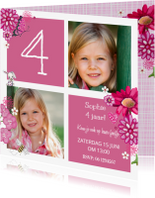 Kinderfeestjes - Kinderfeestje Meisje Blok Roze