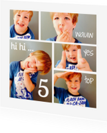 Kinderfeestjes - Kinderfeestje uitnodiging Collage Wauw Yes Top