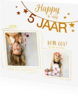 Kinderfeestjes - Kinderfeestje uitnodiging foto collage goud
