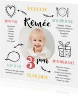 Kinderfeestjes - Kinderfeestje uitnodiging met foto en leuke weetjes