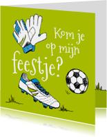 Kinderfeestjes - Kinderfeestje voetbal tekening