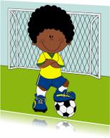 Kinderkaarten - Kinderkaart, een voetballer!