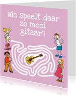 Kinderkaarten - Kinderkaart Gitaar