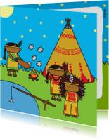 Kinderkaarten - Kinderkaart Indianen