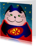 Kinderkaart kat superman