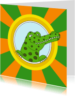 Kinderkaarten - Kinderkaart krokodil - SK