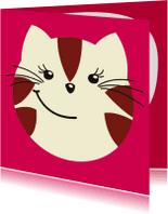 Kinderkaarten - Kinderkaart lieve kat