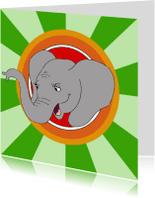 Kinderkaarten - Kinderkaart olifant vrolijk