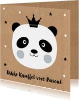 Kinderkaarten - Kinderkaart pandabeer kraftprint