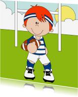 Kinderkaarten - Kinderkaart, Rugbyspeler!