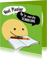 Kinderkaarten - Kinderkaart schooldag smiley
