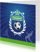 Kinderkaarten - Kinderkaart Voetbal kampioen