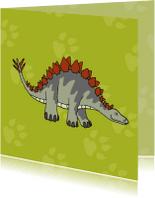 Kinderkaarten - Kinderkaarten - stegosaurus