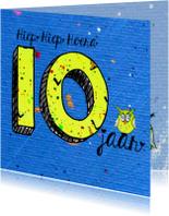 Verjaardagskaarten - kinderverjaardag 10 jaar