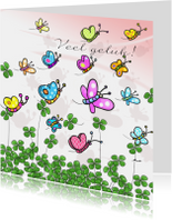 Klaver en vlinder