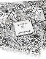 Kleurplaat kaarten - Kleur-kaart bloemen