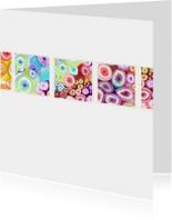 Kunstkaarten - Kleurige vensters