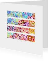 Kunstkaarten - Kleurige vlakken