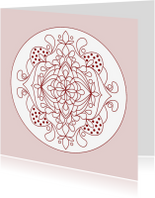 Kleurplaat kaarten - Kleurkaart Mandala 3