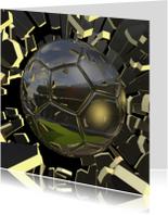 Zomaar kaarten - Knallende voetbalkaart  bal en stadion