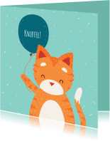 Zomaar kaarten - Knuffelkat