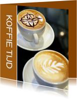 Uitnodigingen - Koffietijd 2 - Cappuccino - OT