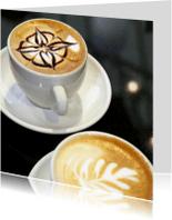 Wenskaarten divers - Kopje koffie - cappuccino - OT
