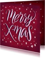 Kerstkaarten - Krijt lettering Merry Xmas