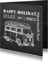 Vakantiekaarten - Krijtbord Camper kaart
