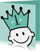 kroon jarig uitnodiging of felicitatie