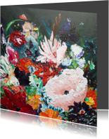 Kunstkaarten - Kunst bloemenschilderij Rijk