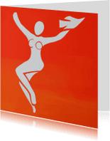Kunstkaarten - Kunst, vrouwfiguur met vogel -AZ