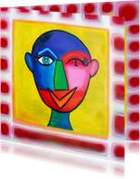 Kunstkaarten - Kunstkaart Kleurrijk Abstract