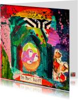 Kunstkaart veilig warm nest IW
