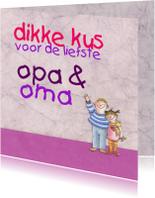 Opa & Omadag kaarten - kus voor de liefste opa en oma