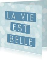 Spreukenkaarten - la vie est belle