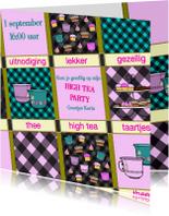 Uitnodigingen - Leesplank High Tea uitnodiging