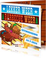 Uitnodigingen - Lekker weer barbecue weer