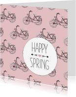 Zomaar kaarten - Lente happy spring fiets