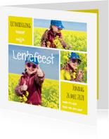 Communiekaarten - Lentefeest collage geel OT