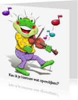 Beterschapskaarten - Leuk opkikkertje met viool. Om de zieke op te vrolijken