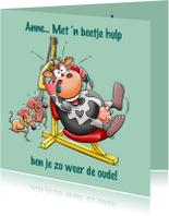 Beterschapskaarten - Leuke beterschapskaart met dieren, die in training zijn