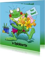 Beterschapskaarten - Leuke beterschapskaart opkikkertje met lentebloemen