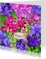 Bloemenkaarten - Leuke bloemenkaart met Hortensia's en andere bloemen