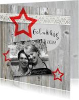 Nieuwjaarskaarten - Leuke nieuwjaarskaart met sterren