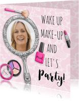 Verjaardagskaarten - Leuke verjaardagskaart kopje vrouw met spiegel