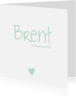Geboortekaartjes - Lief en rustig geboortekaartje