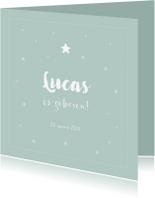 Geboortekaartjes - Lief geboortekaartje met sterretjes